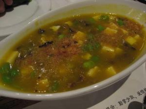 """tofu in """"crab"""" sauce"""